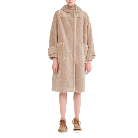 Max Mara Weekend Fur Effect Wool Knit Coat-MAX MARA WEEKEND-SHOPATVOI.COM - Luxury Fashion Designer