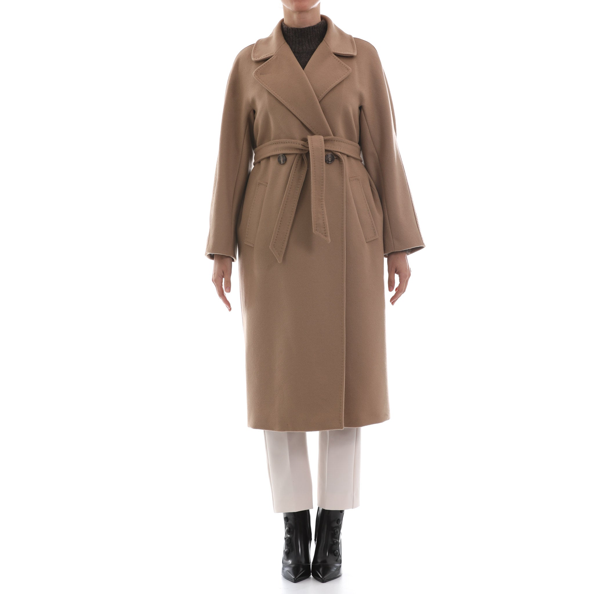 Max Mara Weekend Double Breasted Wool Coat-MAX MARA WEEKEND-SHOPATVOI.COM - Luxury Fashion Designer