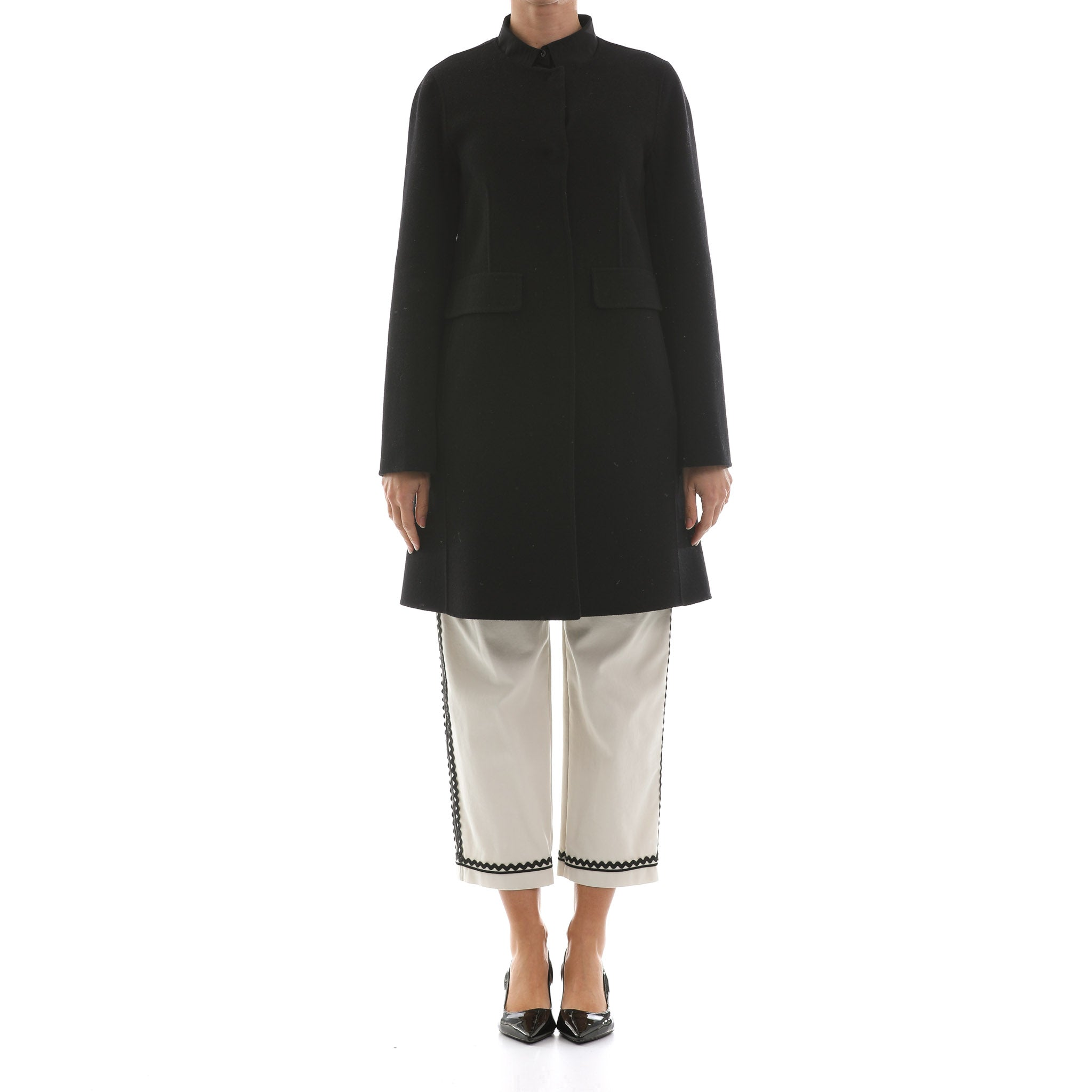 Max Mara Weekend Double Layer Wool Coat-MAX MARA WEEKEND-SHOPATVOI.COM - Luxury Fashion Designer