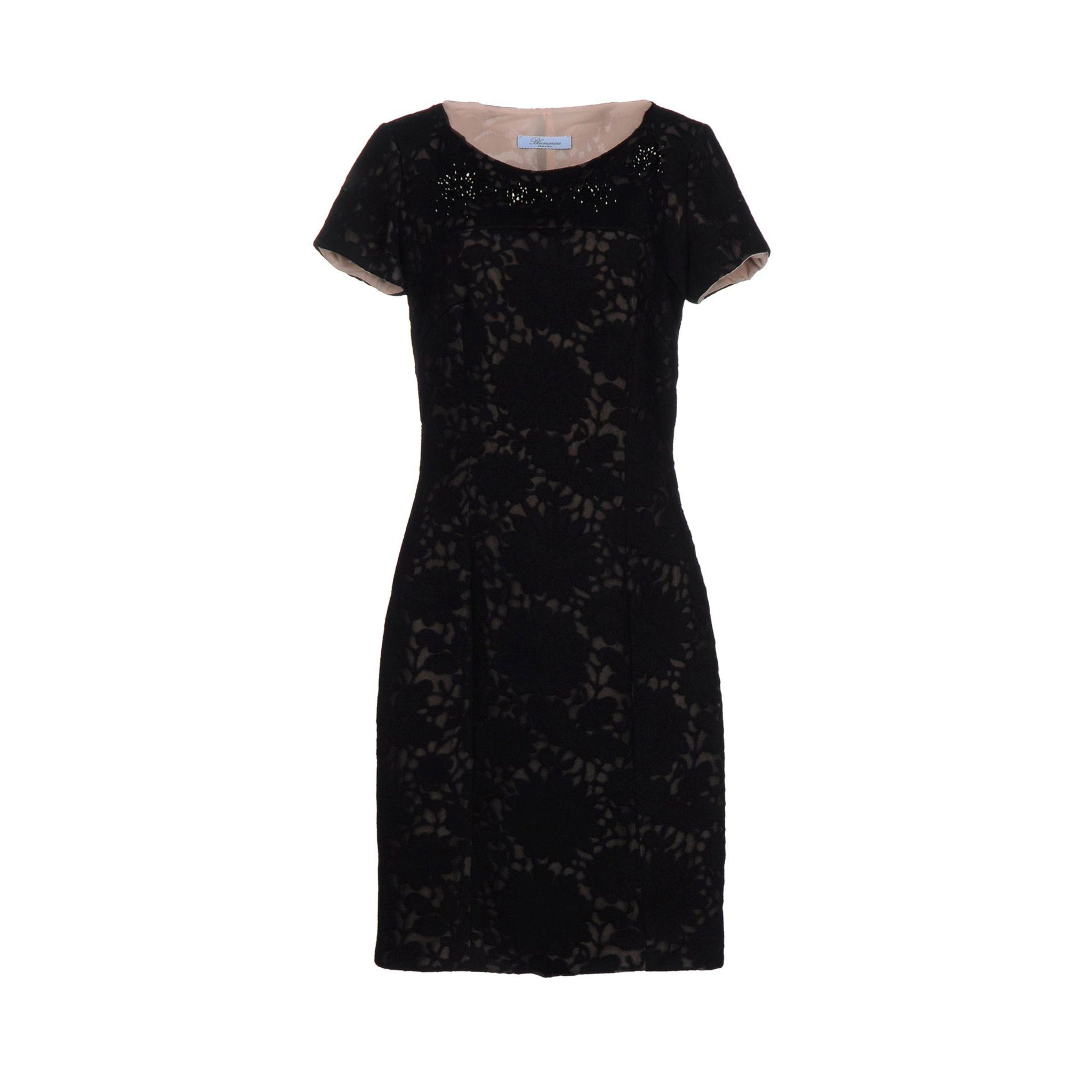 Blumarine Lace Wool Blend Dress