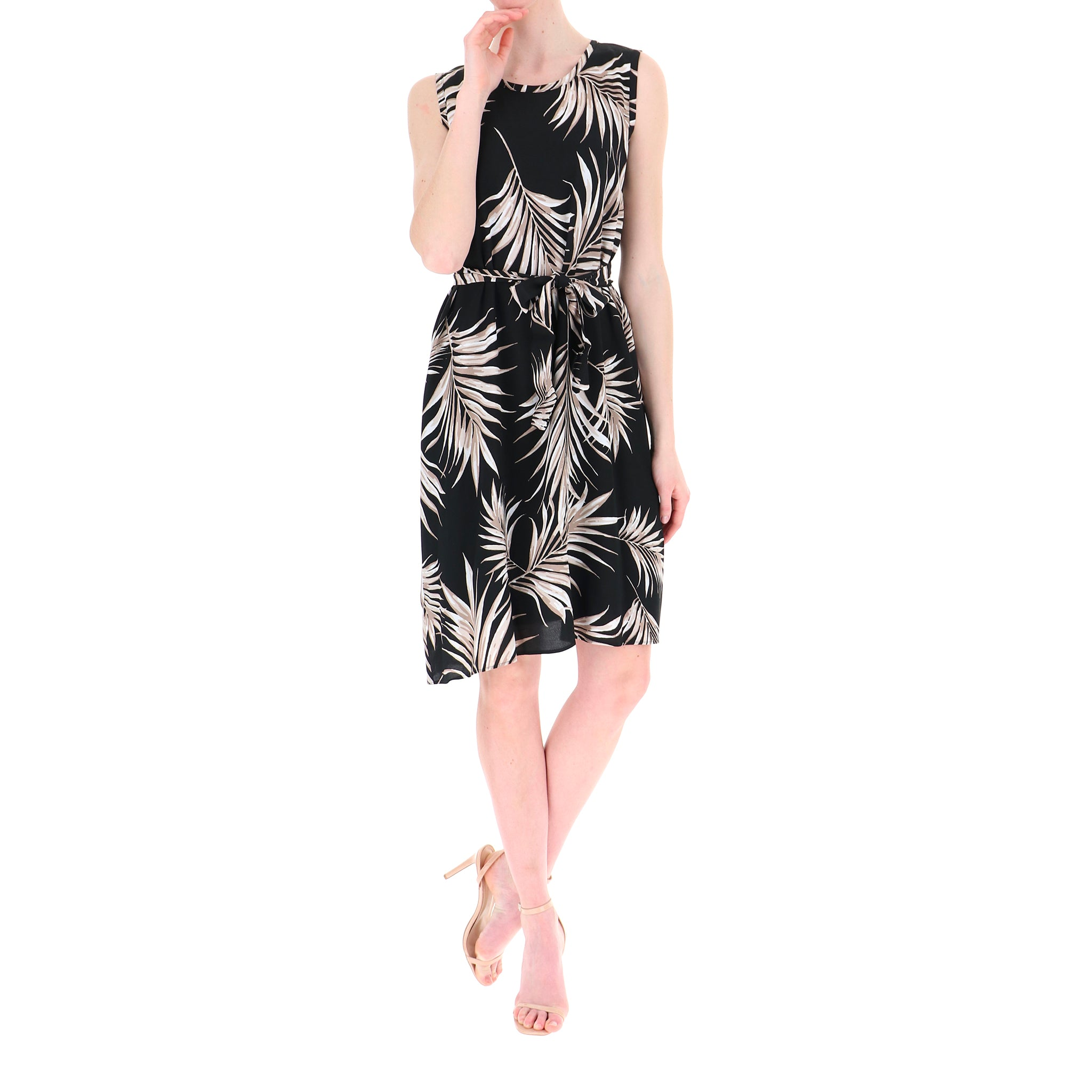 I Blues Leaves Print Zecca Dress