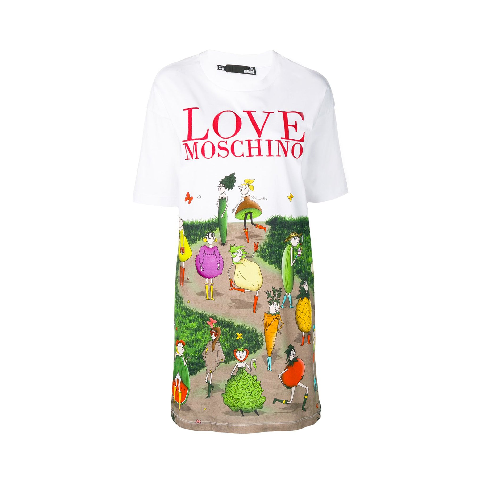 Love Moschino Logo Cartoon Print Dress