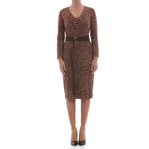 Max Mara Studio Leopard Print Bodycon Dress-MAX MARA STUDIO-SHOPATVOI.COM - Luxury Fashion Designer