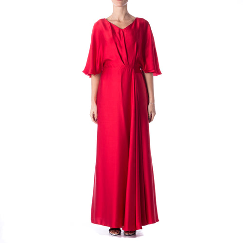 Silk Maxi Dress-MAX MARA STUDIO-SHOPATVOI.COM - Luxury Fashion Designer