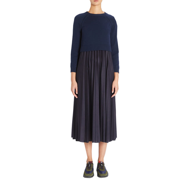 Max Mara Weekend Aidone Cotton And Jersey Dress