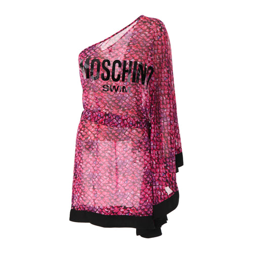 Moschino Swim One Shoulder Dress