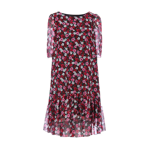 Yves Saint Laurent Floral Print Babydoll Dress