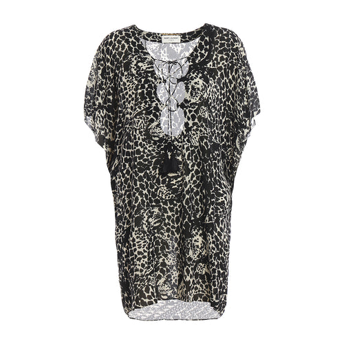 Yves Saint Laurent Leopard Print Dress