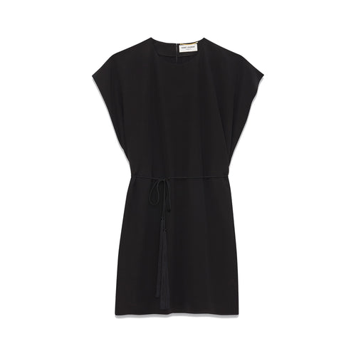 Yves Saint Laurent Tie Waist Mini Dress