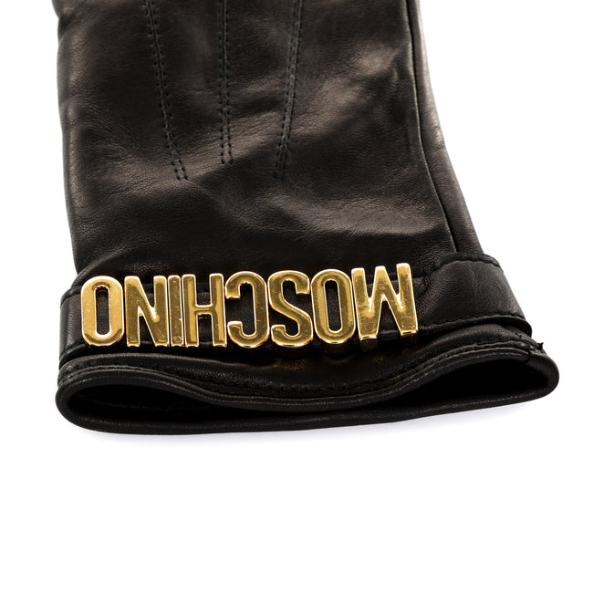 Moschino Leather Gloves-MOSCHINO-SHOPATVOI.COM - Luxury Fashion Designer