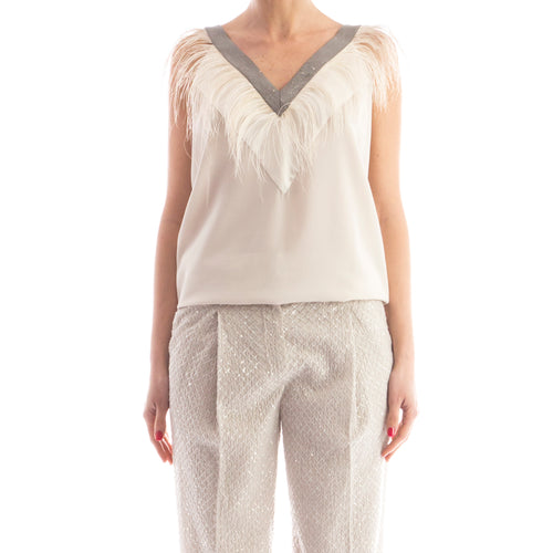 Brunello Cucinelli Silk Top-BRUNELLO CUCINELLI-SHOPATVOI.COM - Luxury Fashion Designer