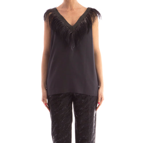 Feathers Detail Silk Top-BRUNELLO CUCINELLI-SHOPATVOI.COM - Luxury Fashion Designer