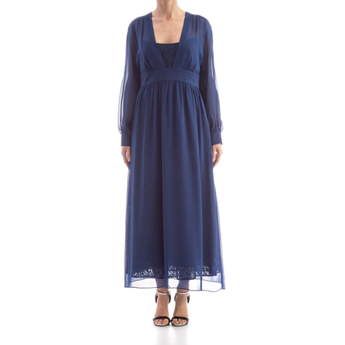 Silk And Lace Dress-MAX MARA STUDIO-SHOPATVOI.COM - Luxury Fashion Designer