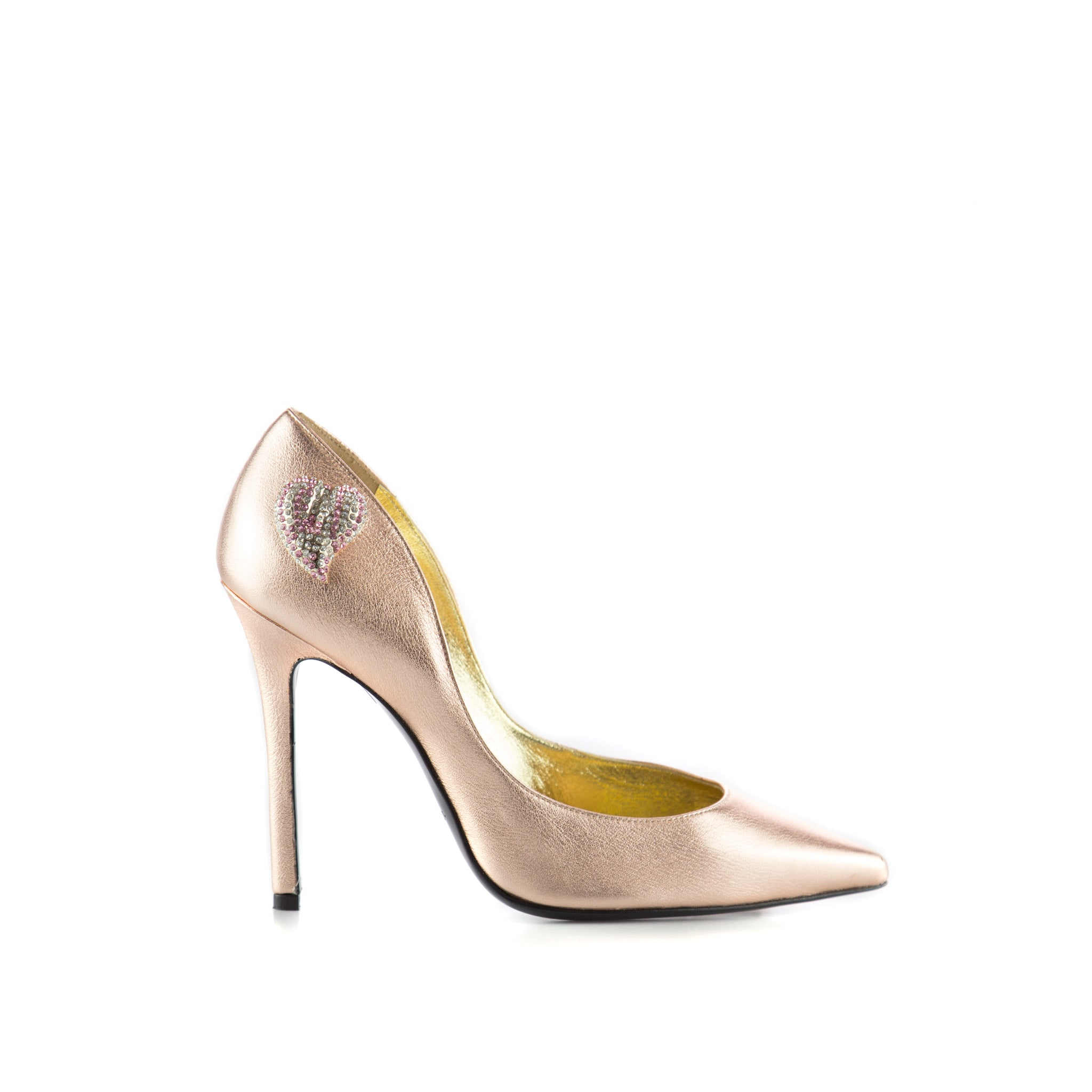 Navida Rose Gold Leather Pumps-APERLAI-SHOPATVOI.COM - Luxury Fashion Designer