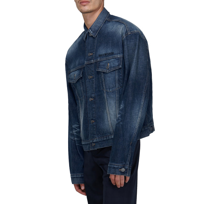 Balenciaga Oversized Denim Logo Jacket