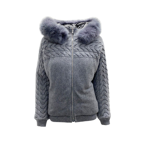 Blumarine Reversible Wool Down Jacket