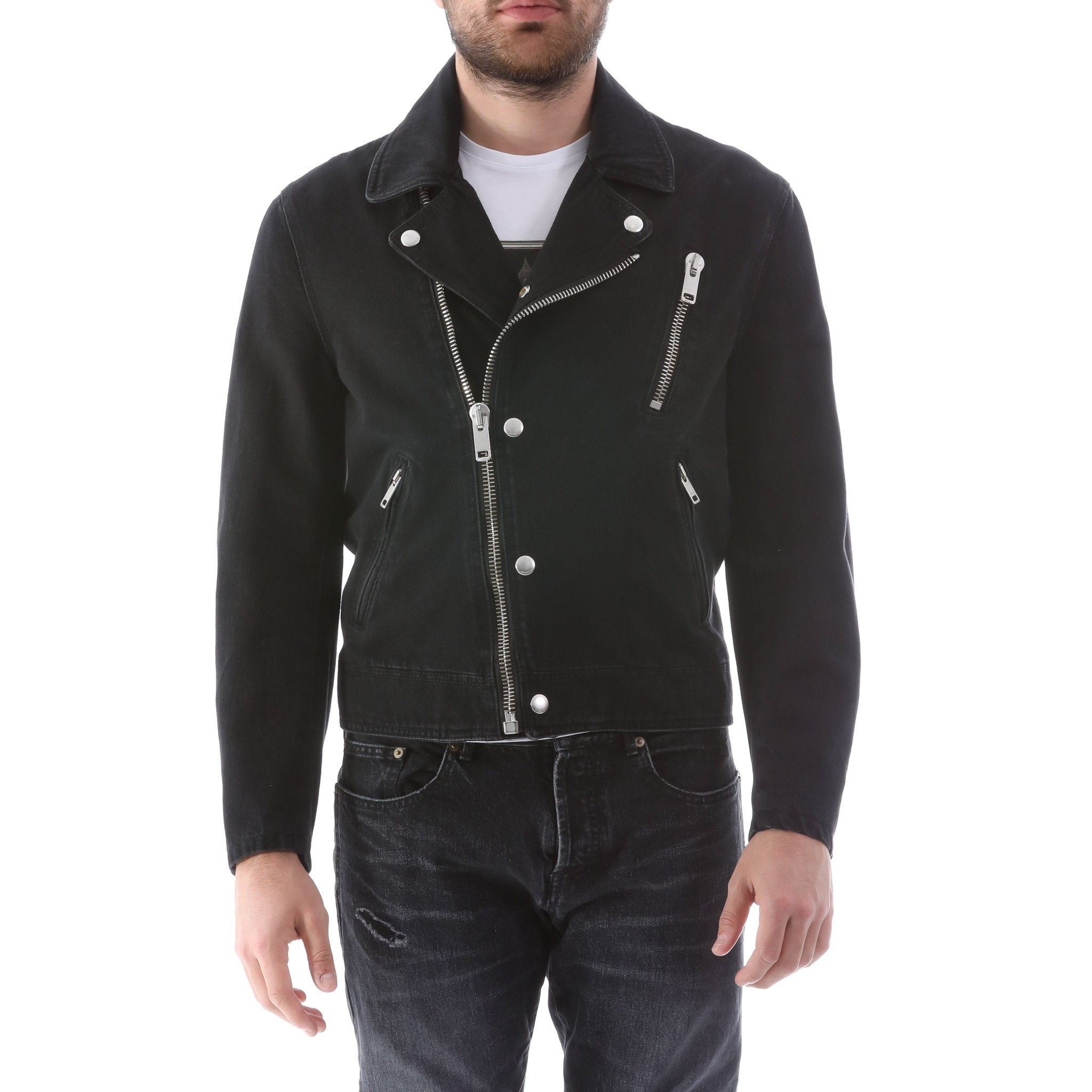 Givenchy Denim Biker Jacket