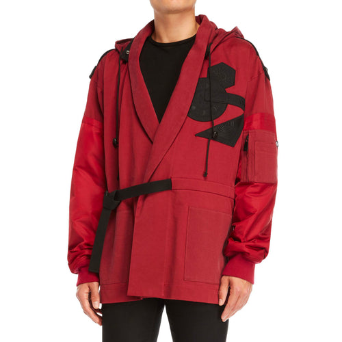 Marcelo Burlon County Of Milan Hooded Patch Jacket