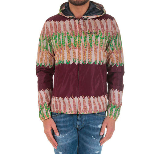 Valentino Feather Print Windbreaker