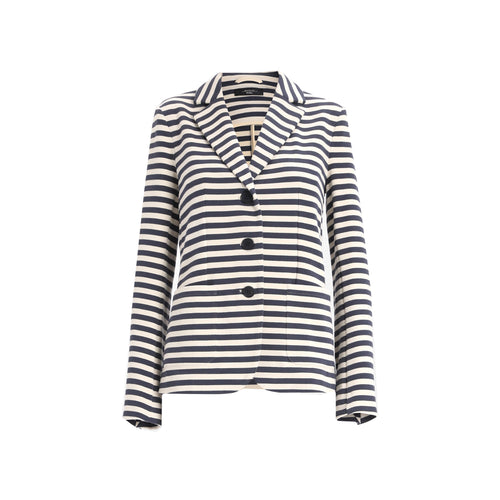 Max Mara Weekend Panay Striped Cotton Blazer