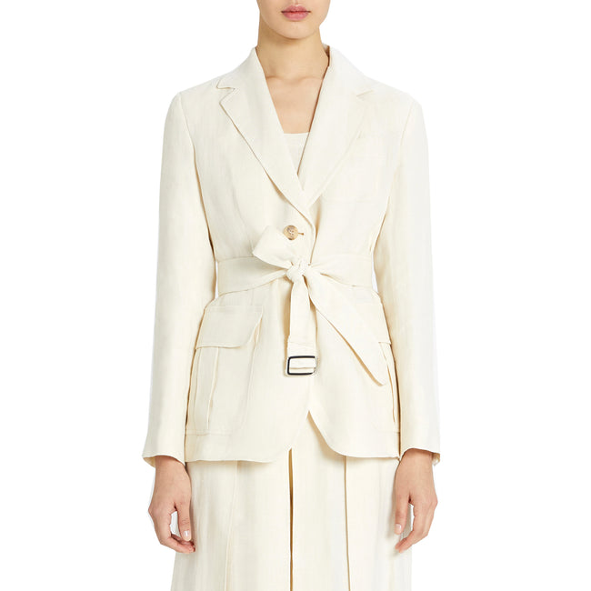 Max Mara Weekend Ananas Linen Canvas Blazer