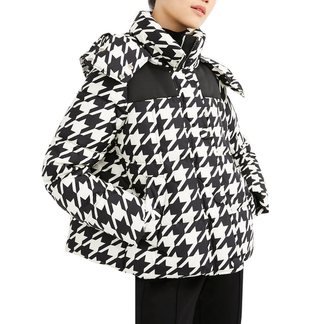 Max Mara Weekend Quilted Houndstooth Bari Coat