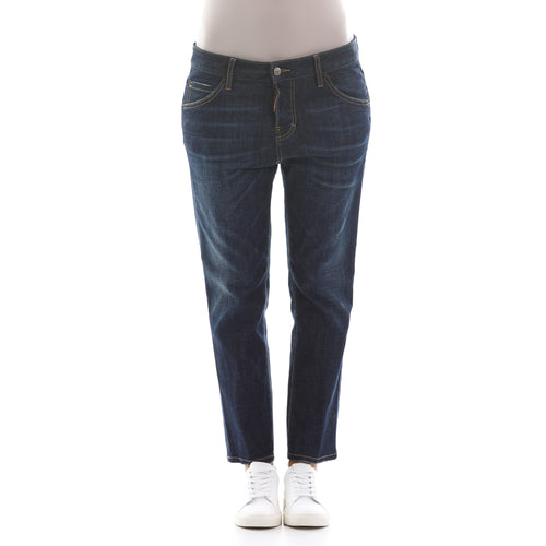 Dsquared2 Cool Girl Cropped Jeans-DSQUARED2-SHOPATVOI.COM - Luxury Fashion Designer