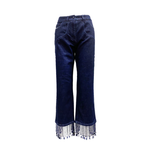 Blumarine Beaded Trim Denim Jeans
