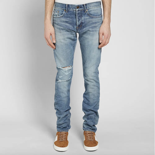 Yves Saint Laurent Washed Effect Denim Jeans