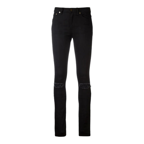 Yves Saint Laurent Distressed Skinny Jeans