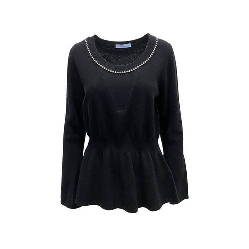 Blumarine Crystal Embellished Sweater