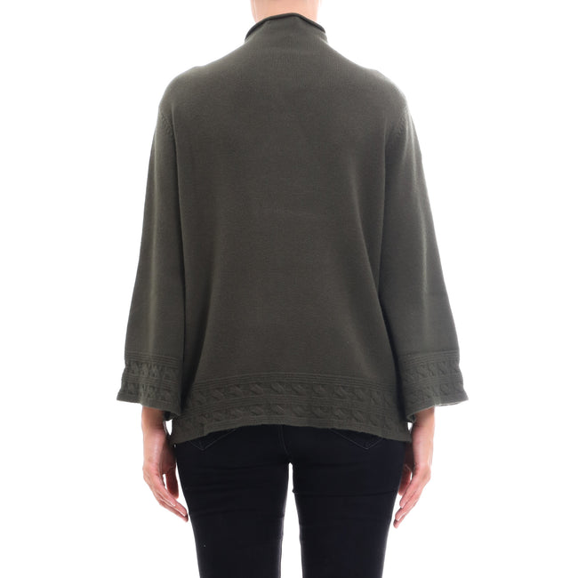 Cashmere Company Wool Blend Flared Sweater
