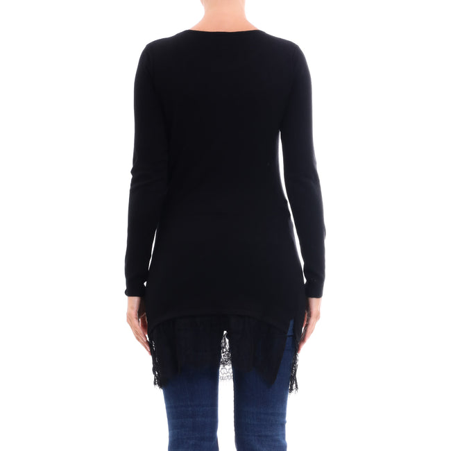 Cashmere Company Wool Blend Long Sweater