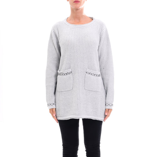 Cashmere Company Maxi Knitted Lame Sweater