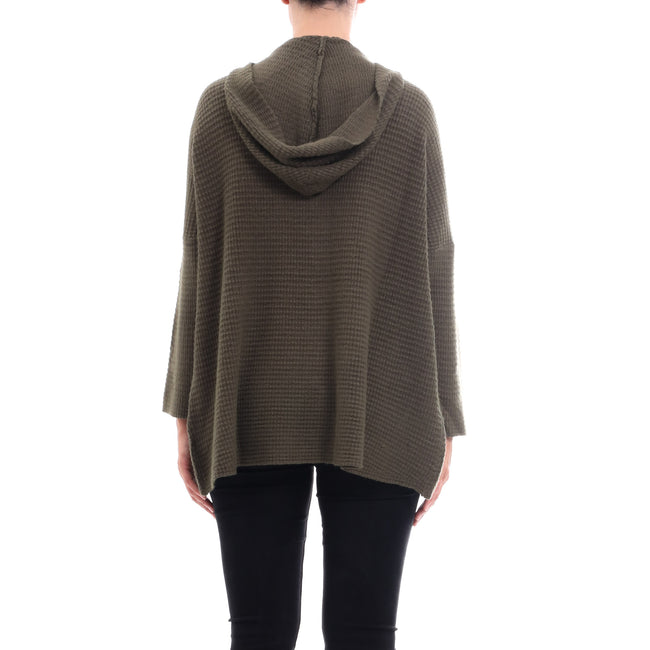 Cashmere Company Zipped Wool Blend Cardigan