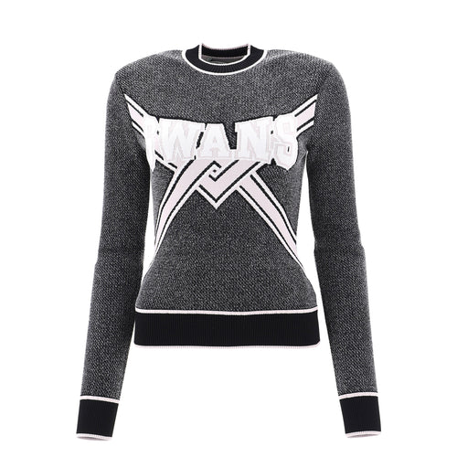 Off White Knitted Swans Viscose Sweater