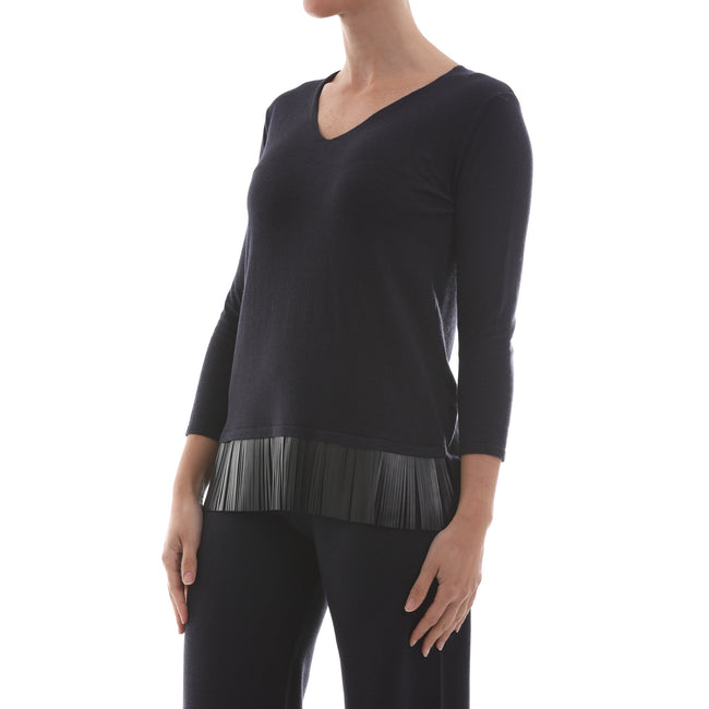 Max Mara Studio Silk And Wool Jumper-MAX MARA STUDIO-SHOPATVOI.COM - Luxury Fashion Designer