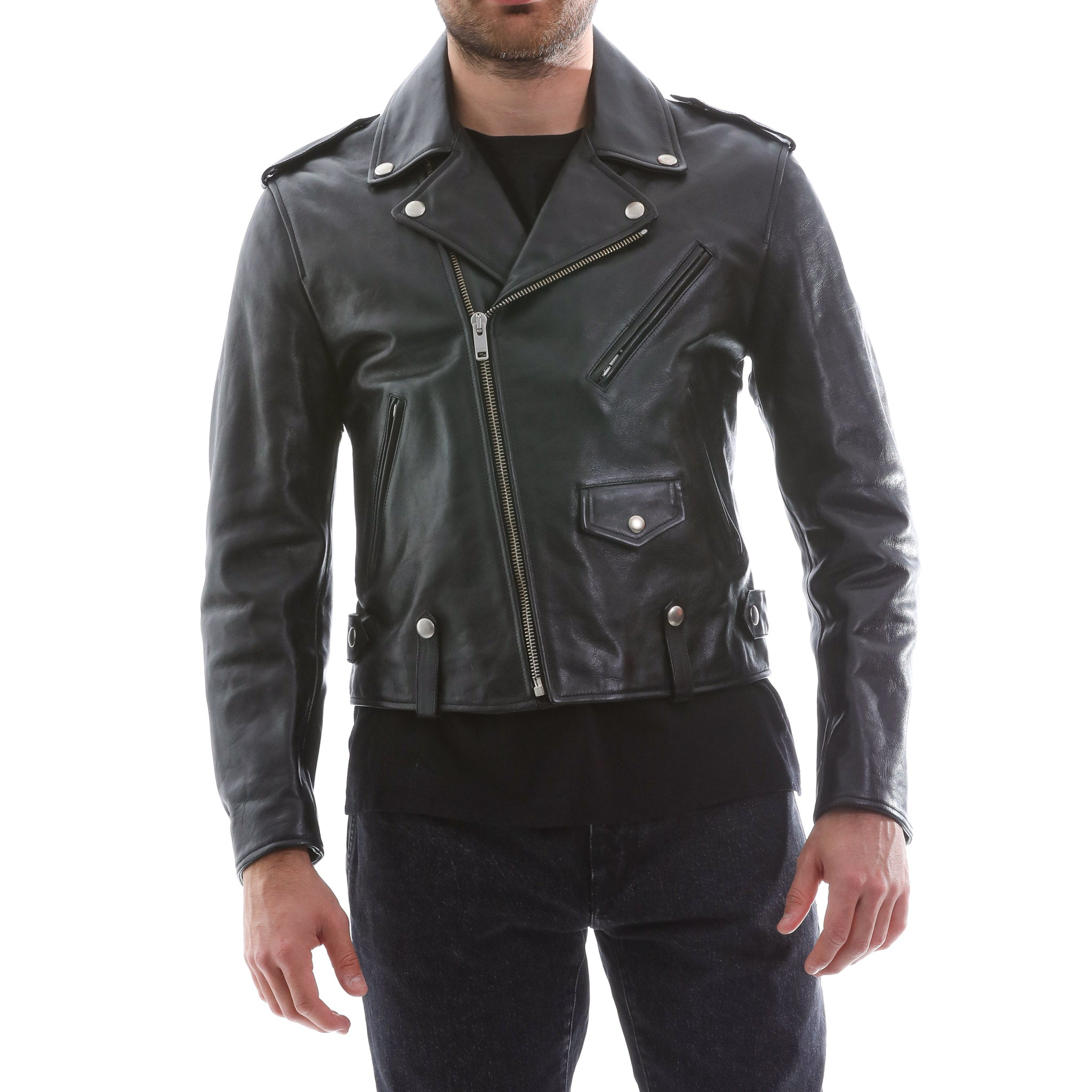 Givenchy Boxy Biker Leather Jacket