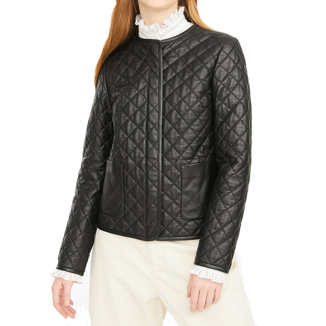 Max Mara Weekend Lazio Quilted Leather Jacket