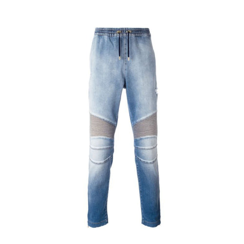 Balmain Biker Denim Pants