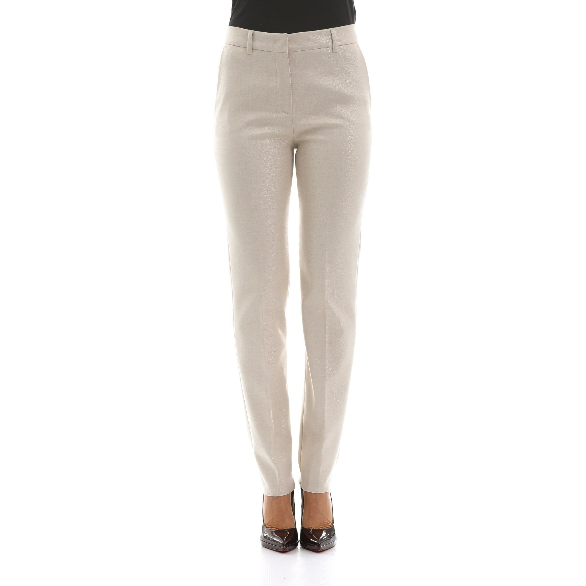 Max Mara Studio Glitter Cotton Blend Trousers
