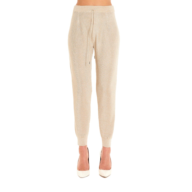 Max Mara Studio Jogging Trousers In Lurex