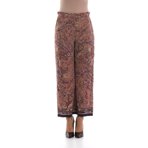 Max Mara Studio Cropped Silk Trousers