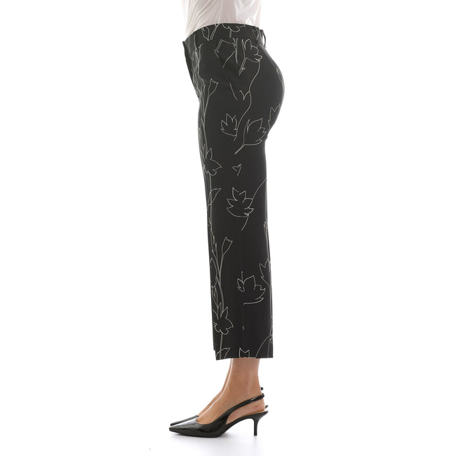 Max Mara Studio Printed Cady Cigarette Trouser-MAX MARA STUDIO-SHOPATVOI.COM - Luxury Fashion Designer