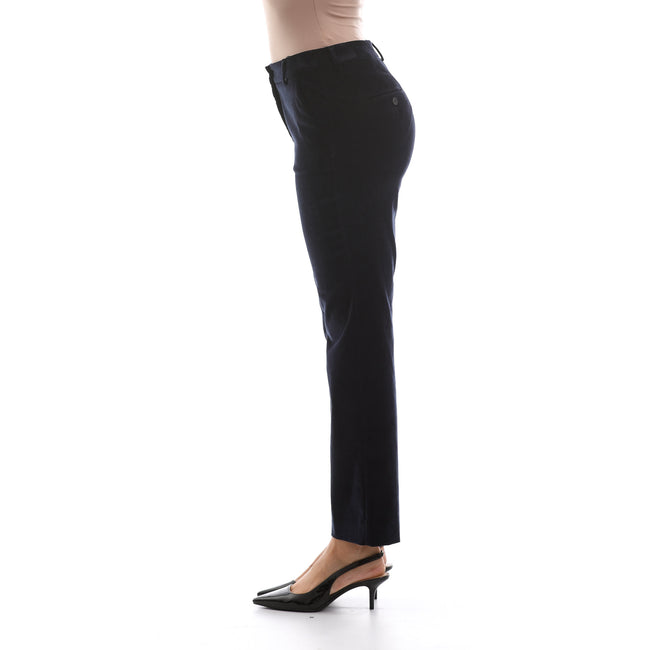 Max Mara Weekend Velvet Cropped Trousers-MAX MARA WEEKEND-SHOPATVOI.COM - Luxury Fashion Designer