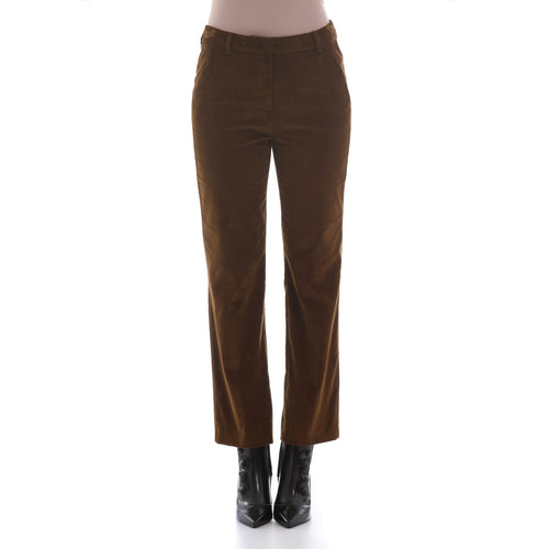 Max Mara Weekend Velvet Cropped Trousers