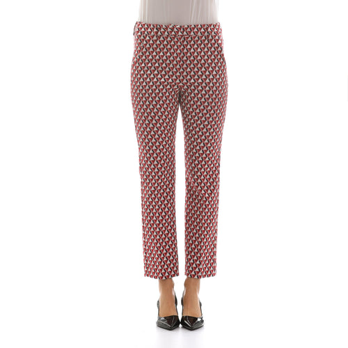 Max Mara Weekend Cropped Jacquard Trousers-MAX MARA WEEKEND-SHOPATVOI.COM - Luxury Fashion Designer