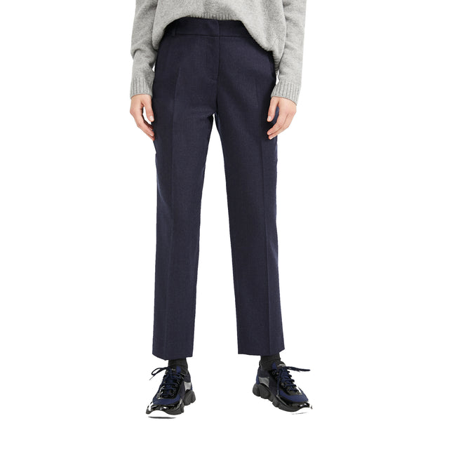 Max Mara Weekend Ondata Wool Flannel Trousers