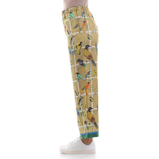 Max Mara Weekend Printed Silk Trousers-MAX MARA WEEKEND-SHOPATVOI.COM - Luxury Fashion Designer