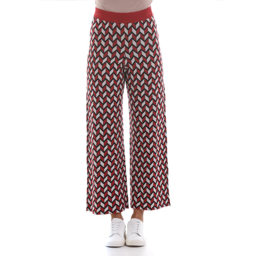 Max Mara Weekend Cropped Jacquard Yarn Trousers